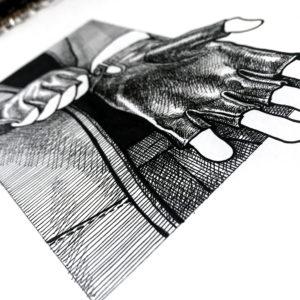 Gant cuir